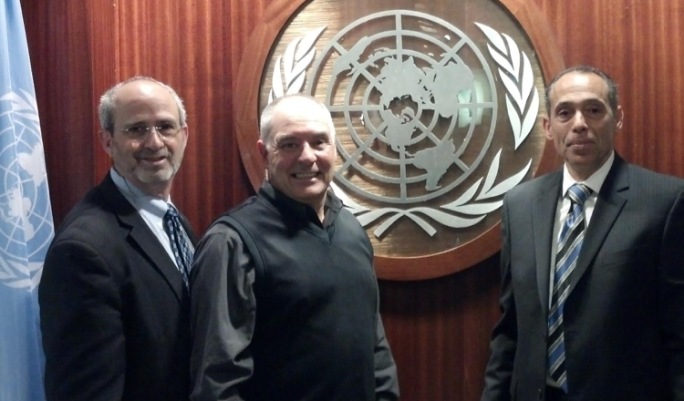 Dr. Gary Deutchman, Dr. Pete Morgan and Dr. Steven Simonetti WCA Reps for United Nations