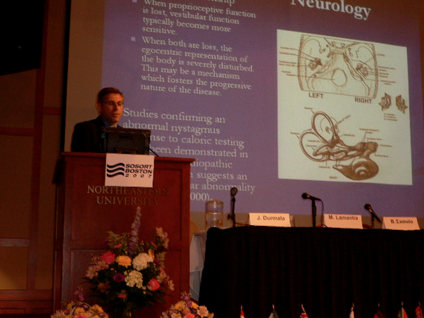 Dr. Marc Lamantia D.C. DACNB presented his paper on Vestibular Involvement in Scoliosis to the Society on Scoliosis Orthopaedic and Rehabilitation Treatment's Annual Conference in Boston in 2007.